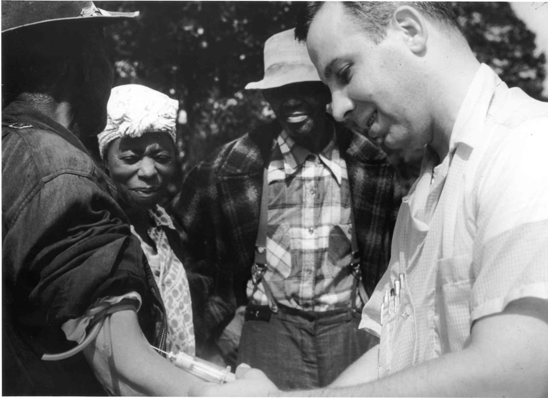 Tuskegee patient getting his blood drawn in the mid-20th century
