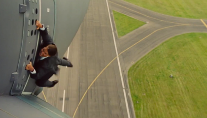 Tom Cruise Hangs on to a Flying Airbus (Really) in the Next Mission Impossible