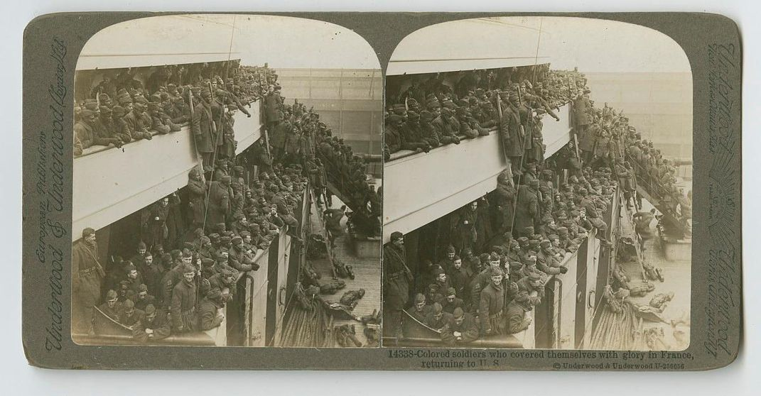 Black soldiers returning from France -- WWI