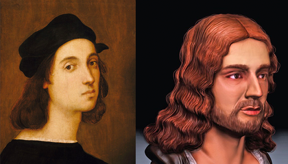 3-D Facial Reconstruction Suggests Raphael Self-Portrait Presents Idealized Version of the Artist
