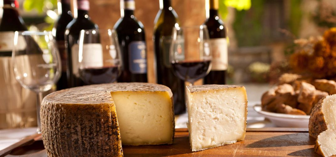 Traditional cheese of Tuscany