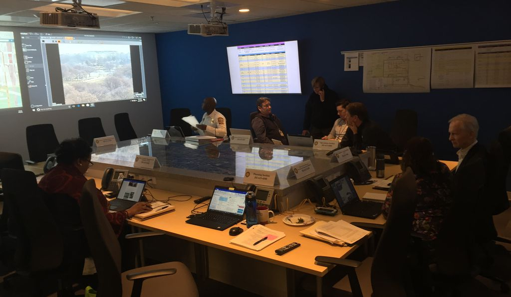 When major events happen or could happen, Gentry activates an emergency operations center at his office that includes a 20-seat room with projectors and monitors that can stream video feeds from any closed-circuit camera at the Smithsonian, from as far away as research facilities in Hawaii and Panama.