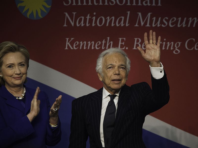 Hillary Clinton Awards Ralph Lauren For Helping The 200 Year Old