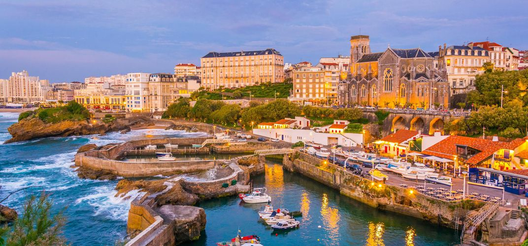The harbor in Biarritz