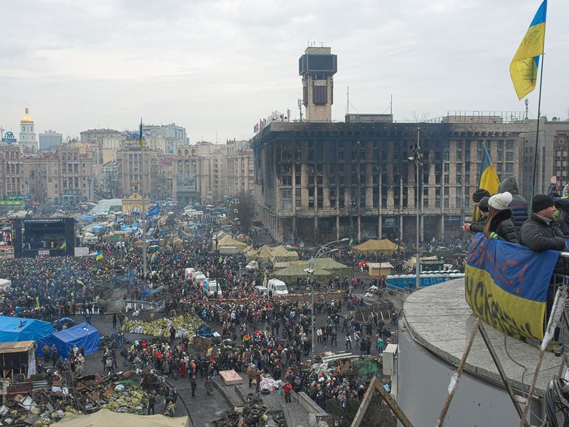 Ukraine's Independence Square February 23
