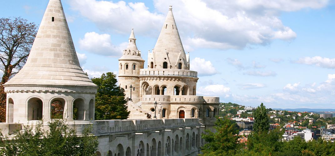 Fisherman's Bastion, found on the Buda side of Budapest