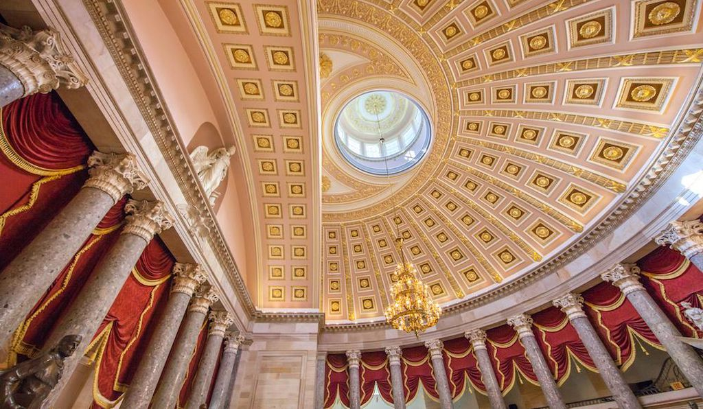 Whispering Gallery inside the U.S. Capitol, Washington, D.C.