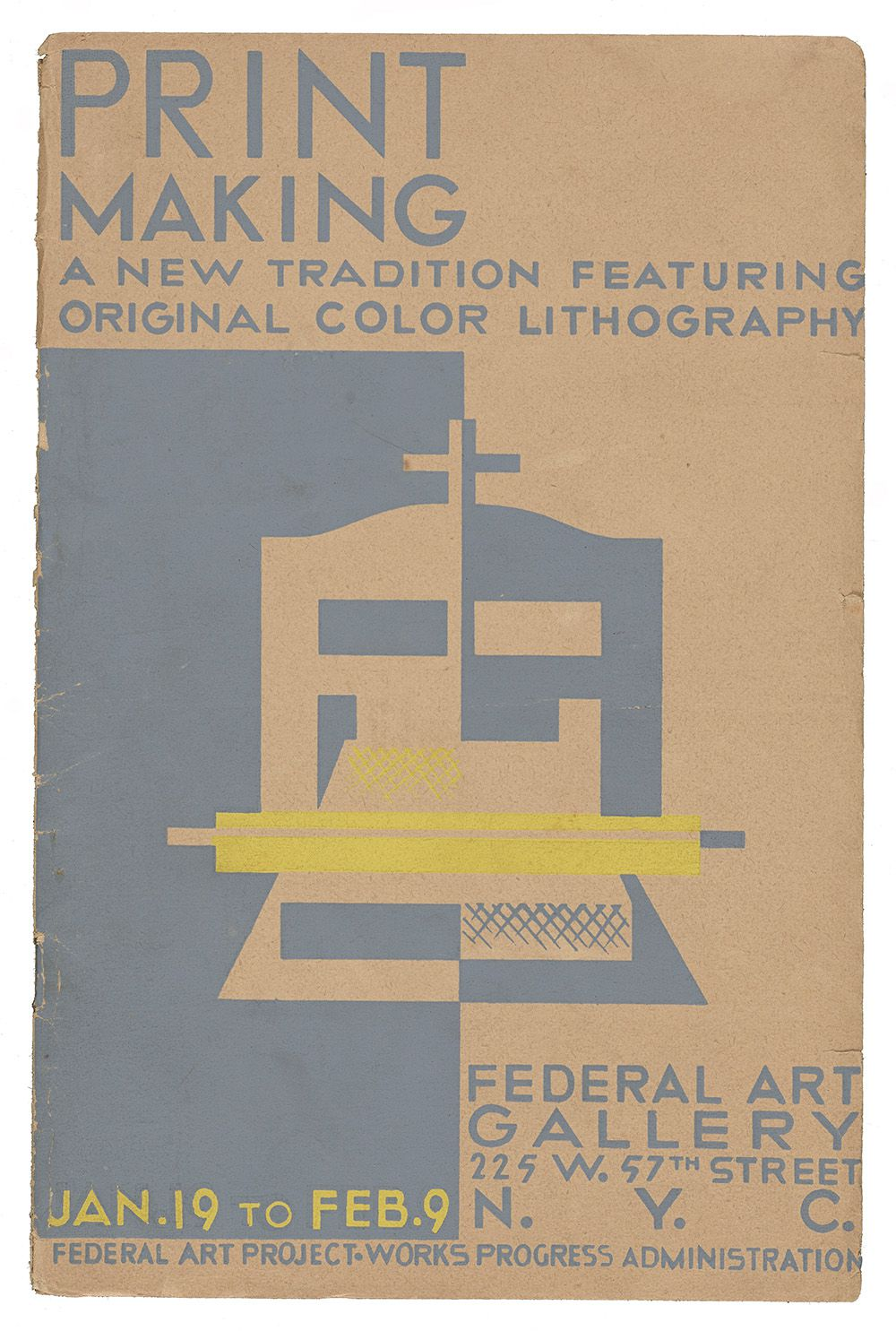 Catalog for exhibition of printmaking sponsored by the Works Progress Administraion