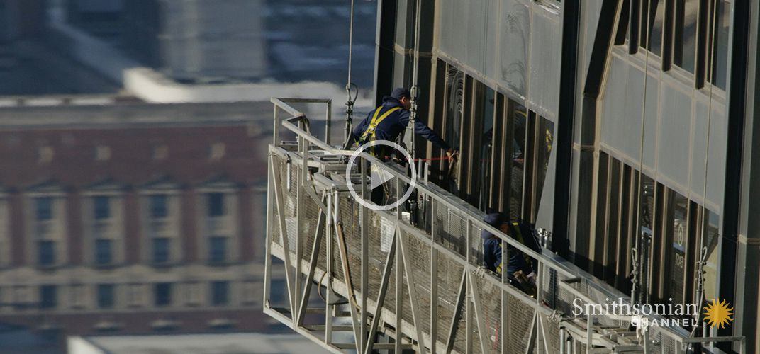 Caption: Window Cleaning One of Chicago's Tallest Buildings