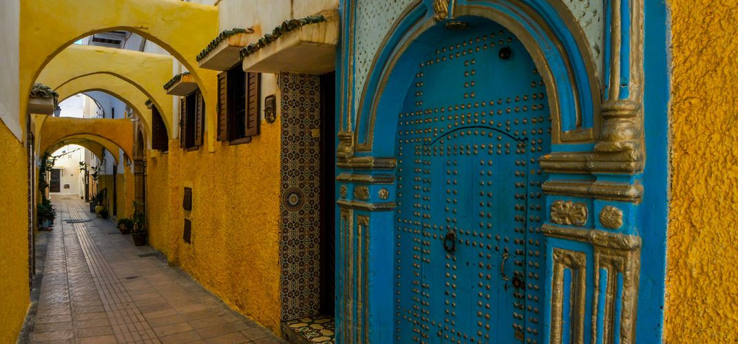 Colorful architecture in Rabat