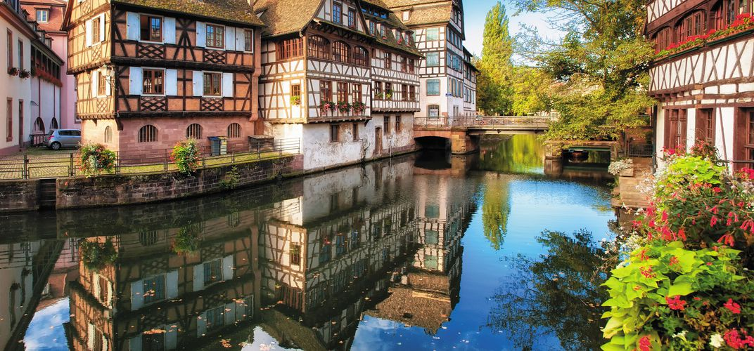 The delightful Alsatian city of Strasbourg, France