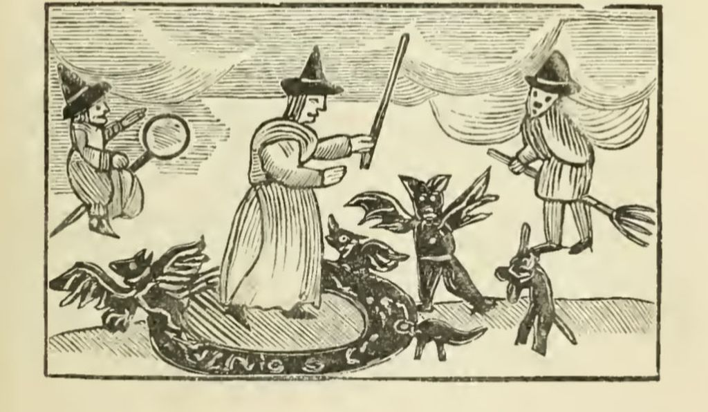 More pointy hats and demons, and also a broomstick.