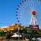The ferris wheel is the main attraction in Mihama, located in Okinawa, Japan in Mihama