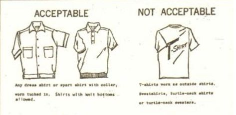 Dress code illustration, 1960s