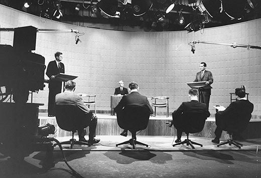 On September 26 1960 Presidential Candidates Nixon And Kennedy Stood Before Cameras For The First Ever Televised Debate
