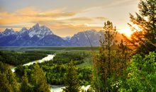 Yellowstone and the Tetons description