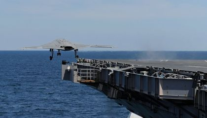 Unmanned X-47B Launches from a Carrier