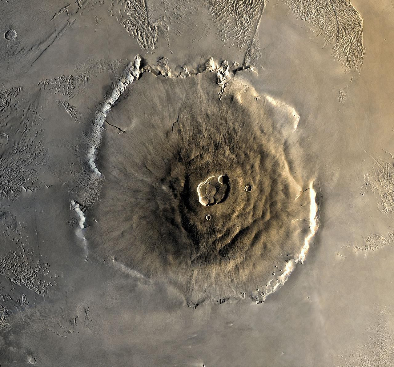 Billions of years ago, a giant landslide cascaded down the slopes of the largest mountain in the solar system—Mars' Olympus Mons. When all this ma