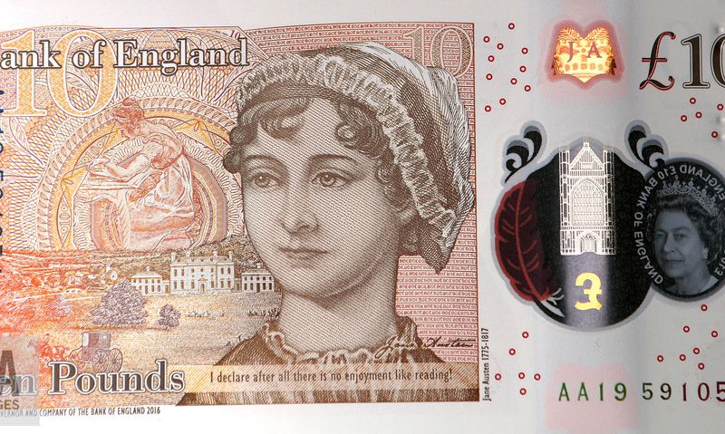 Jane Austen on the new £10 note.