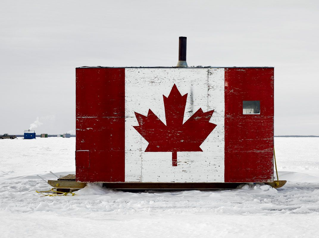 Portraits of canada s ice fishing huts travel smithsonian for Ice fishing hut