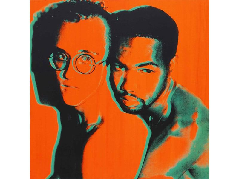Andy Warhol print of Haring and Juan DuBose