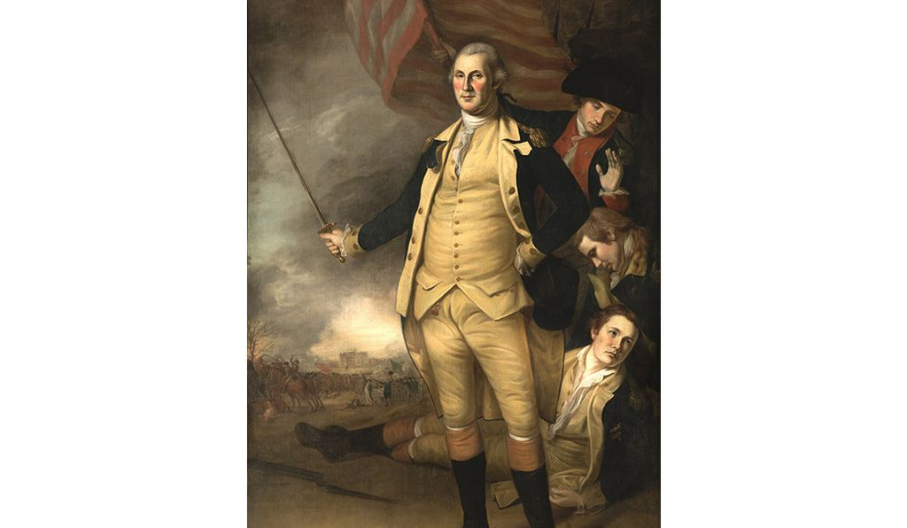 While differing in composition from <em>George Washington at the Battle of Princeton,</em> significant similarities remain. Peale unveiled the work in person during commencement at the College of New Jersey on September 29, 1784.