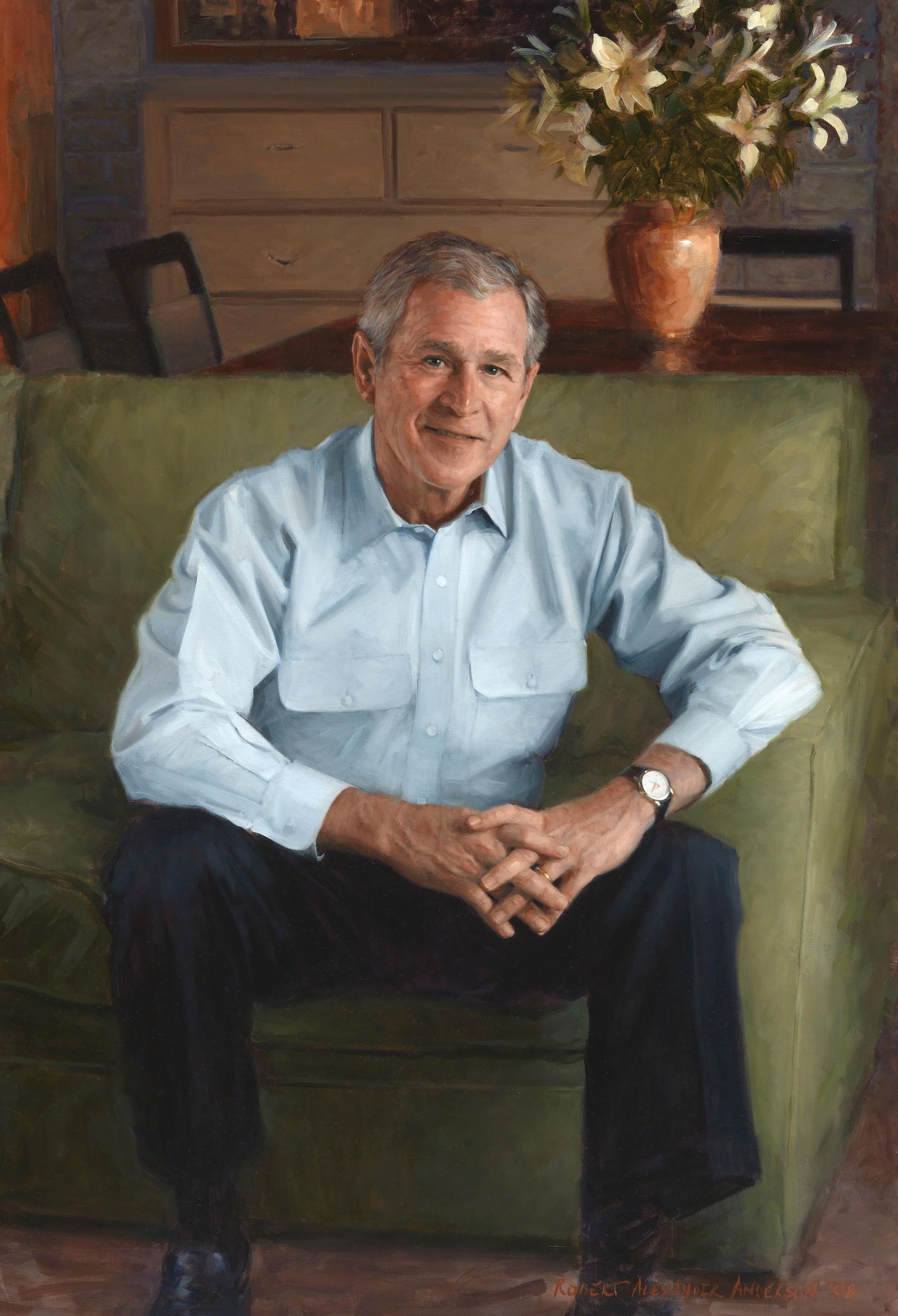 George W  Bush's Portrait at National Portrait Gallery | At