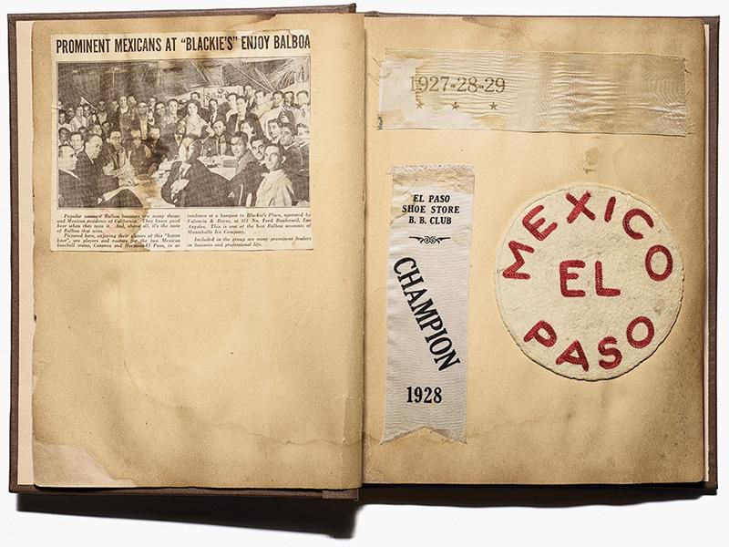 A scrapbook about two baseball players