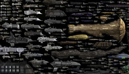 An Incredibly Detailed Size Comparison Chart of Science Fiction Spaceships