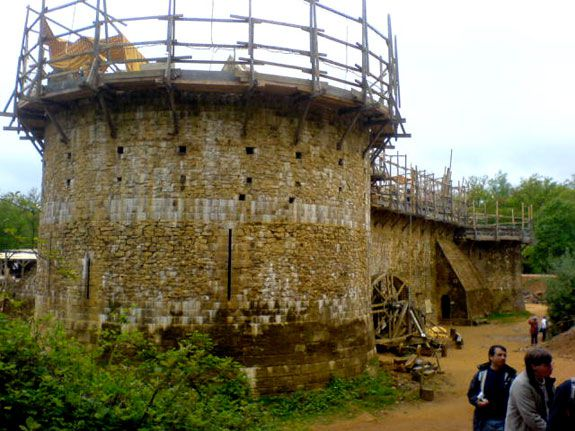 The Medieval castle Guedelon in 2009
