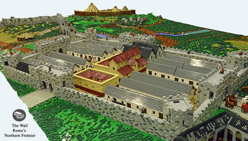 lego superfans built this epic model of hadrian s wall smart news