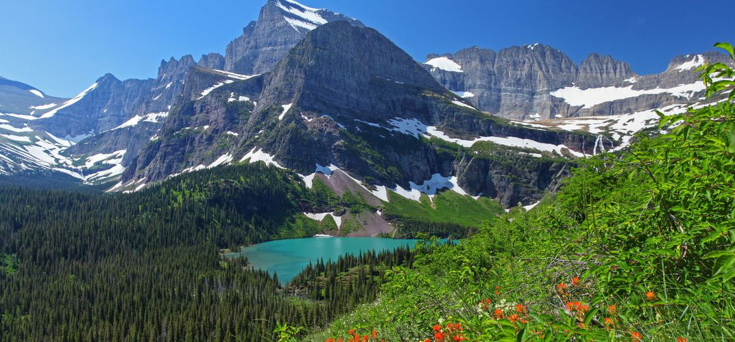 Landscape of Glacier National Park