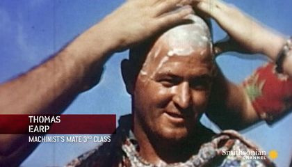 Rare Color Footage of WWII Navy Hazing Rituals