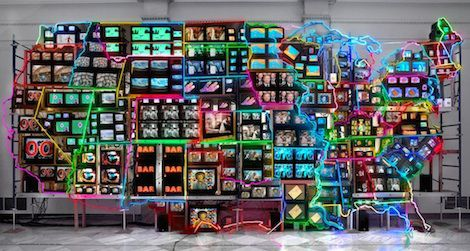 Electronic Superhighway: Continental U.S., Alaska, Hawaii. 1995. Nam June Paik.