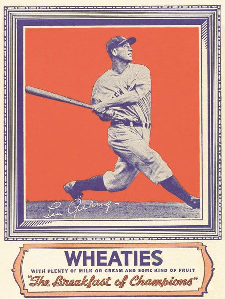Lou Gehrig Wheaties Box