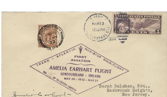 Mail Carried by Amelia Earhart