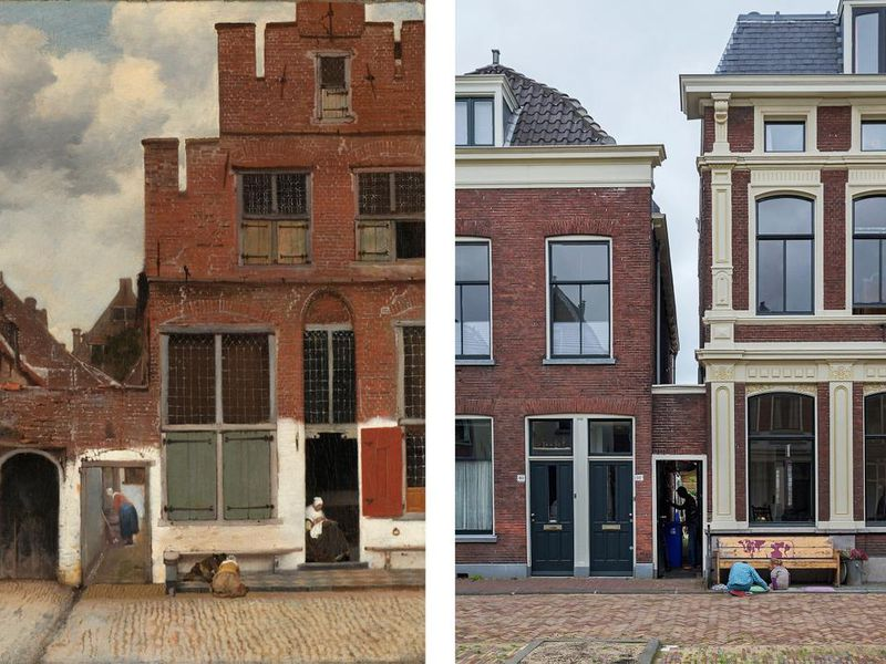 Vermeer Little Street Old and New
