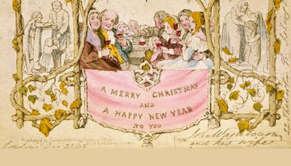 The First Commercially Printed Christmas Card Scandalized Victorian England