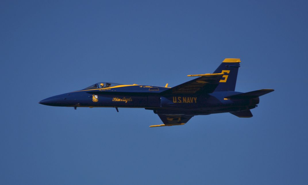 Blue Angel jet during San Francisco Fleet Week | Smithsonian