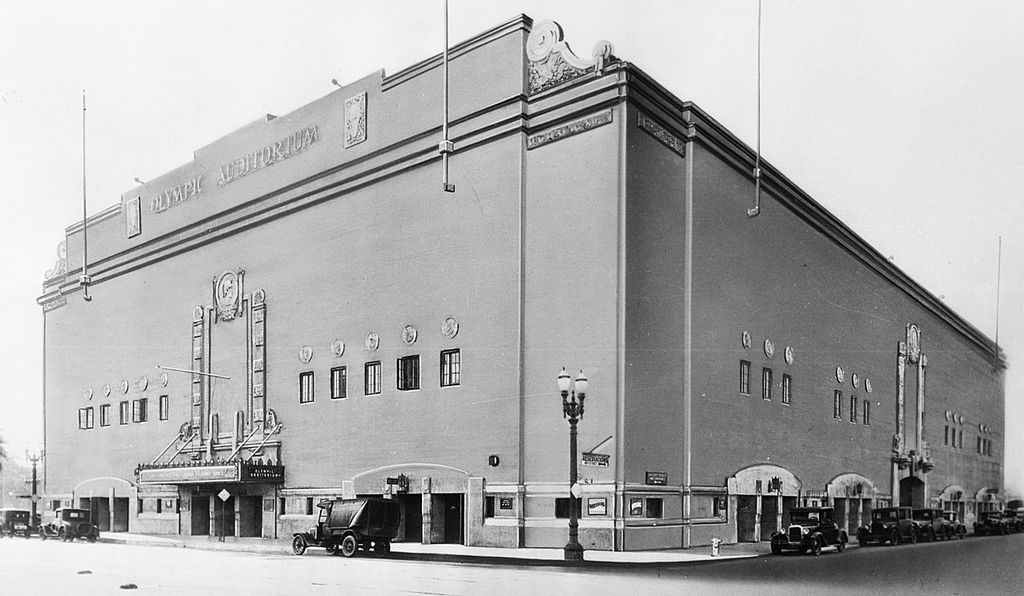 The Grand Olympic Auditorium, formerly host to Olympic boxing matches and now a church.