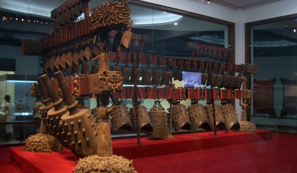 The bells found in the tomb of the Marquis Yi are now in the collections of the China's Hubei Provincial Museum.