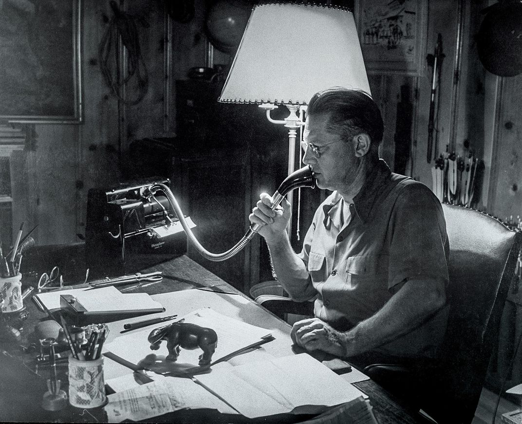 Gardner dictates a story in 1941.