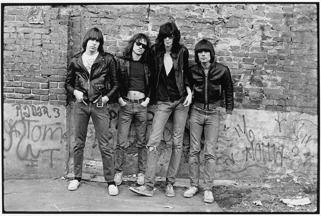 The ramones in a photograph that became the cover of their 1976 debut album roberta bayley