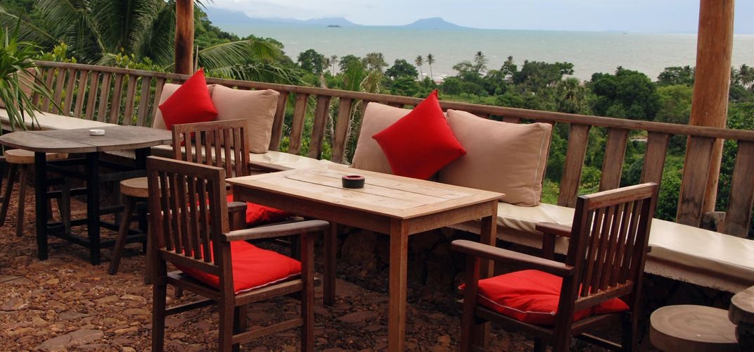 A view from our Veranda Natural Resort in Kep