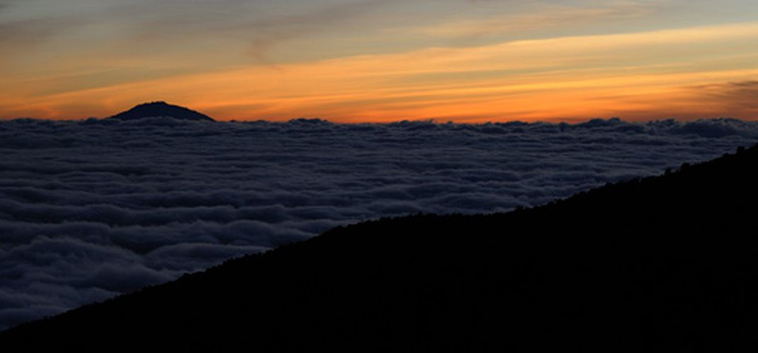 Sunset above the clouds on Kilimanjaro Credit: Brian Kirkpatrick