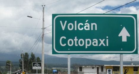 The quiet highway that leads through Cotopaxi is a bike-friendly route.