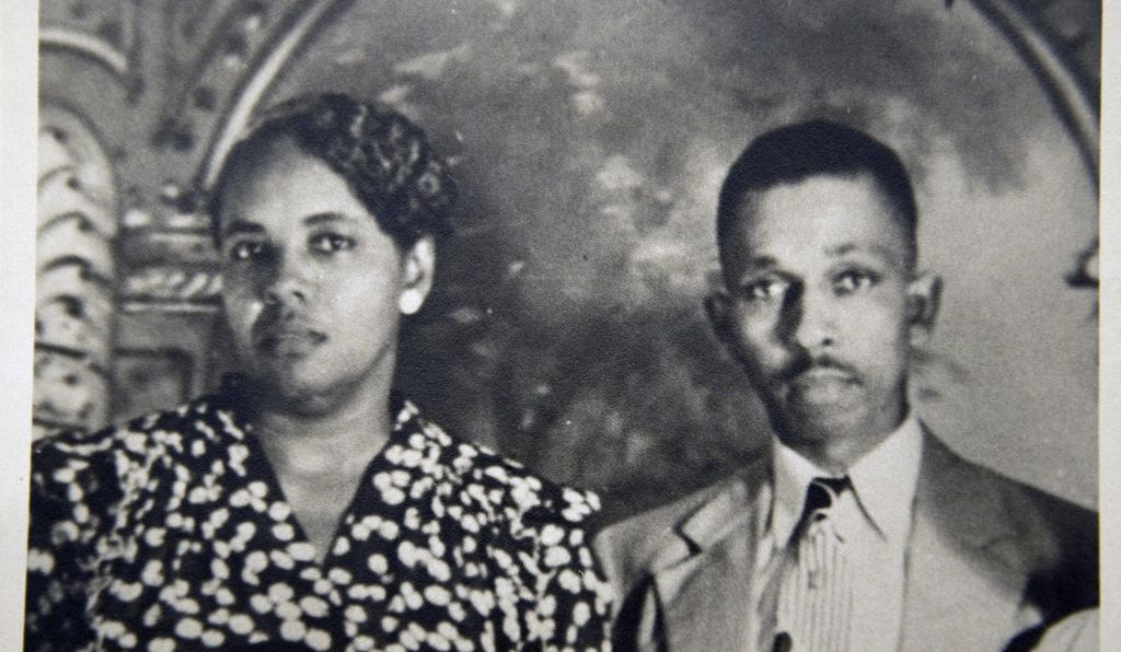 A portrait of Harry T. and Henrietta V. Moore