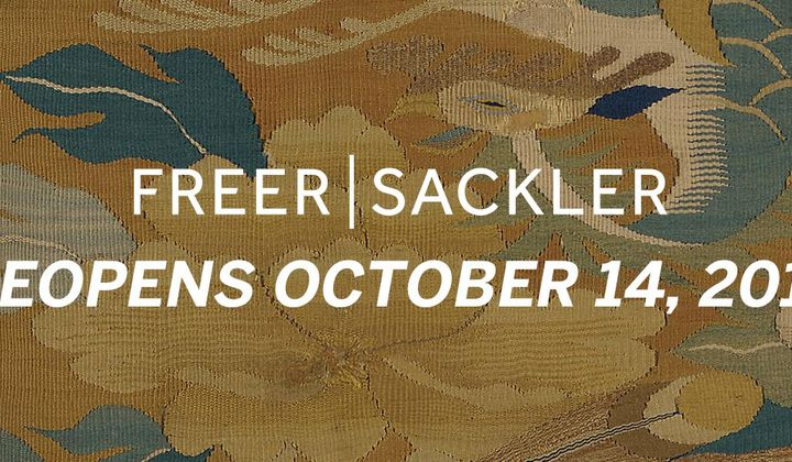 Freer|Sackler: Reopens October 14