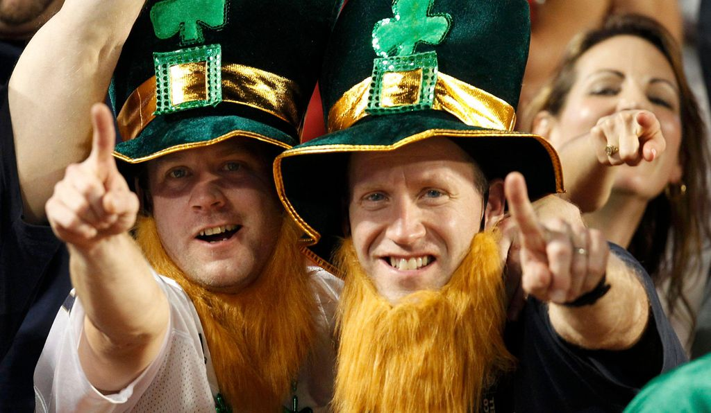 Notre Dame fans cheer before a 2013 game.