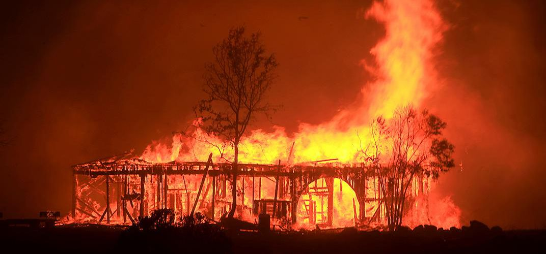 Caption: Historical Structure Burns in California Fires